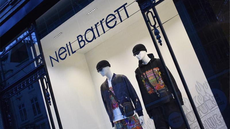 neil barret shop window