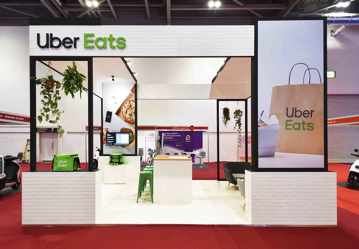 Uber Eats Exhibition Stand